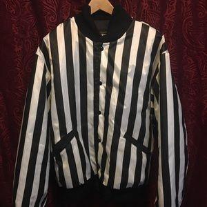 Vintage rennoc classic striped bomber jacket